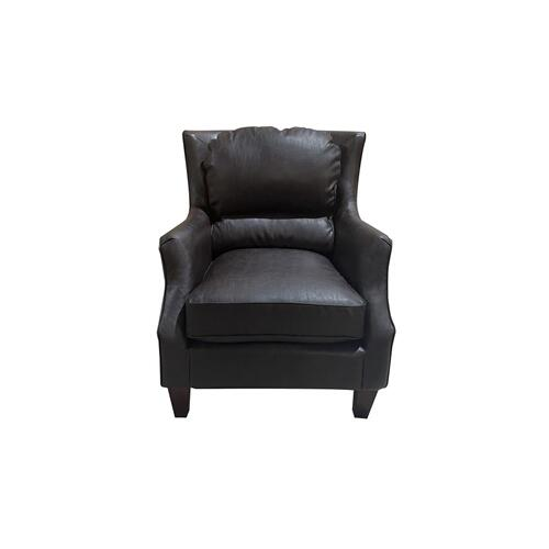 Porter International Designs - Garnett Black Leather-Look Accent Chair, ACL522