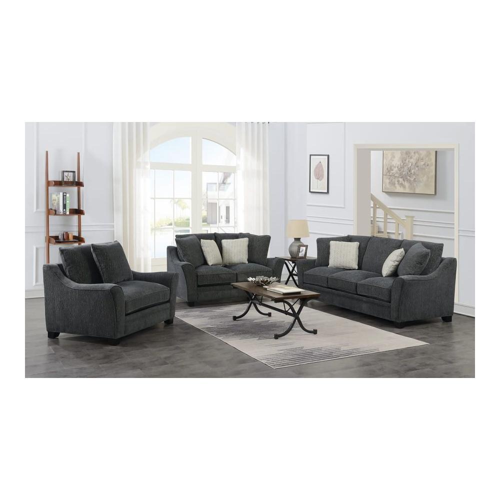Ryland Gray Sofa, Loveseat, 1.5 Chair, U3872
