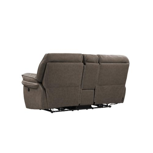 Allyn Power Console Loveseat, Gray Taupe U7127-21-03