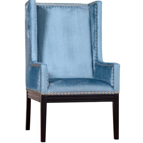 Tov Furniture - Tribeca Blue Velvet Chair