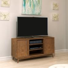 Twin Star Home Leawood TV Stand for TVs up to 60 inches, Mahogany Cherry