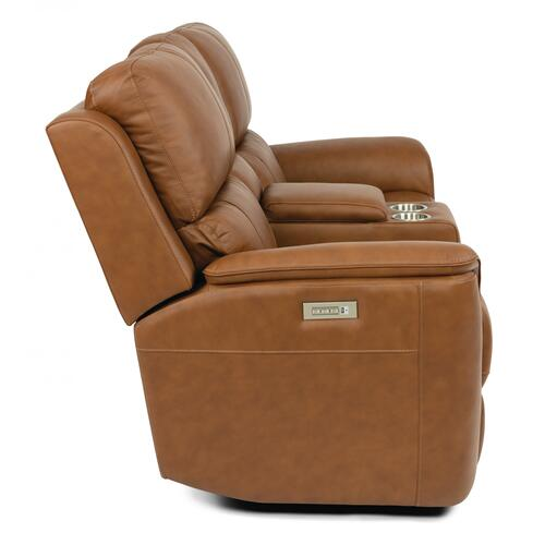 Henry Power Reclining Loveseat with Console & Power Headrests & Lumbar