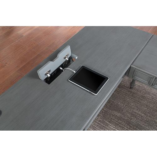 Office Star - Country Meadows L-shape Desk With Power