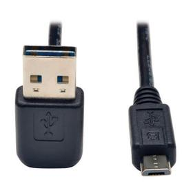 Universal Reversible USB 2.0 Cable (Up / Down Angle Reversible A to Micro-B M/M), 6 ft.