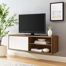 "Envision 46"" Wall Mount TV Stand in Walnut White"