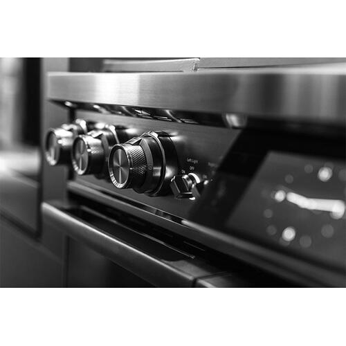 "48"" Pro Dual-Fuel Steam Range, Graphite Stainless Steel, Liquid Propane"