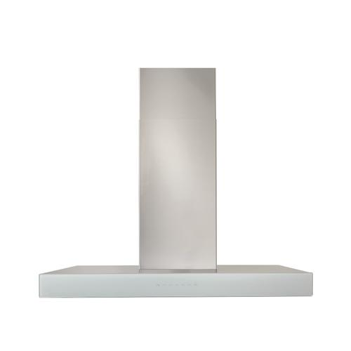 BEST Range Hoods - 30-inch 650 Max Blower CFM Stainless Steel Chimney Range Hood with PURLED™ Light System and White Glass (WCB3 Series)