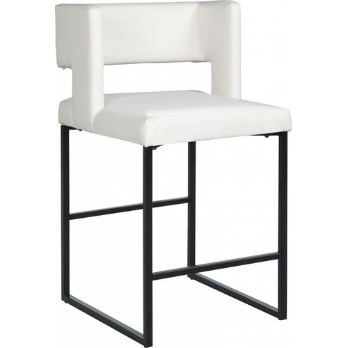 "Caleb Faux Leather Counter Stool - 19.5"" W x 20.5"" D x 36"" H"