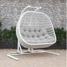 Renava San Juan Outdoor White & Beige Hanging Chair
