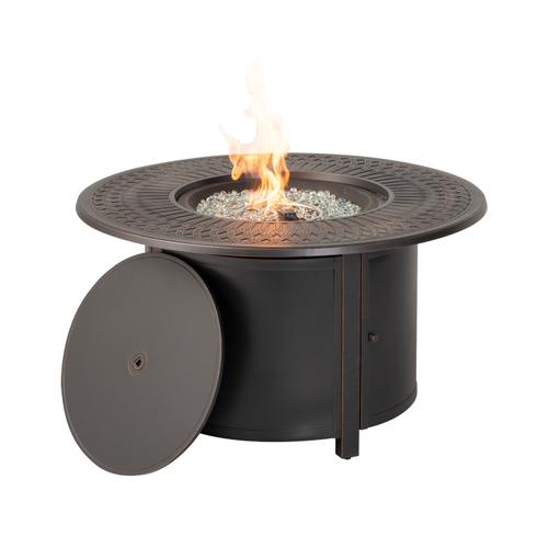 "Walden 44"" Round Gas Fire Pit Chat Table"