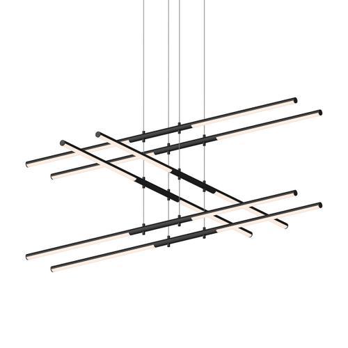 Sonneman - A Way of Light - Tik-Tak® LED Pendant [Size=Stack 3-Tier, Color/Finish=Satin Black]