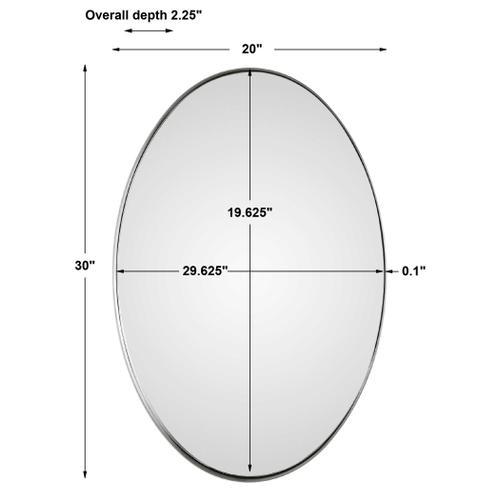 Pursley Brushed Nickel Oval Mirror
