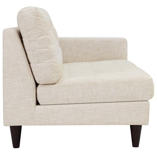 Modway - Empress Right-Facing Upholstered Fabric Loveseat in Beige