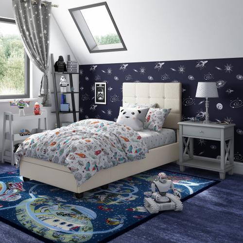 Accentrics Home - Twin Storage Bed in Fog