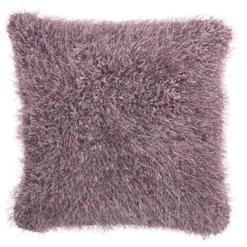 """Shag We403 Lavender 20"""" X 20"""" Throw Pillow"""