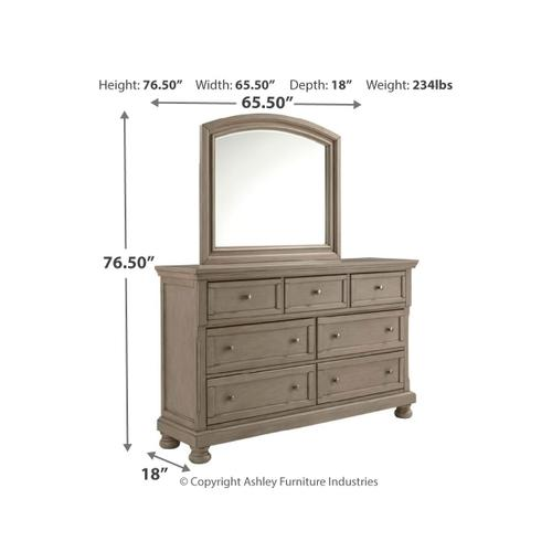 Product Image - Full Sleigh Bed With Mirrored Dresser, Chest and 2 Nightstands