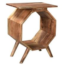 See Details - Bengal Manor Acacia Wood Octagon Accent Table