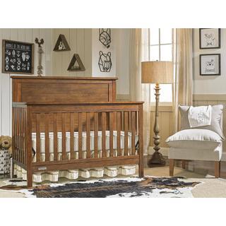 Fisher-Price Quinn Convertible Crib, Rustic Brown