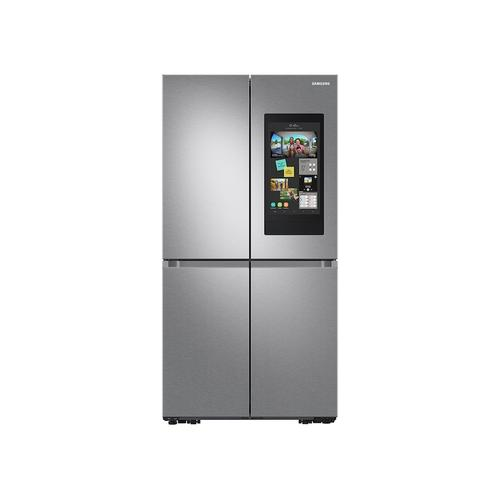 Samsung - 29 cu. ft. Smart 4-Door Flex™ Refrigerator with Family Hub™ and Beverage Center in Stainless Steel