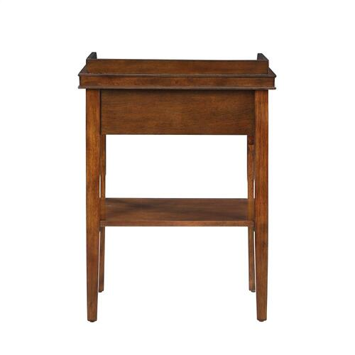 1-drawer and 1 Bottom Shelf Accent Table, Brown