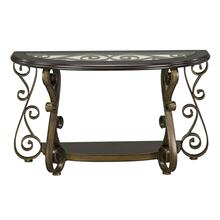 View Product - Bombay Sofa Table with Glass Top, Brown