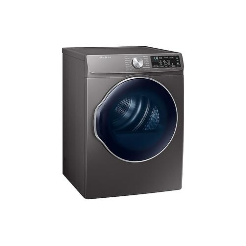 Samsung - 4.0 cu. ft. Electric Dryer with Smart Care in Inox Grey