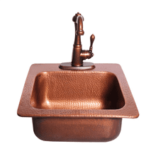 COPPER DROP-IN BAR SINK 15 x 15