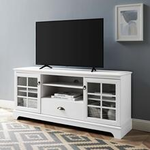 """Pacific 59"""" TV Stand in White"""