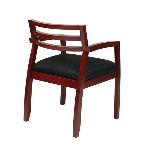 Napa Cherry Guest Chair With Wood Back & Black Fabric Seat