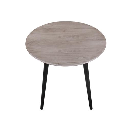 Midland Round Dropleaf Dining Table, Classic Gray & Black D475-12-03