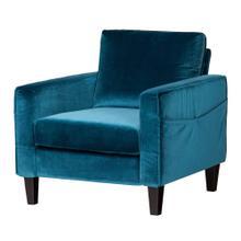 Sofa, 1-Seat - Velvet Blue