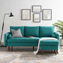 Revive Upholstered Right or Left Sectional Sofa in Teal