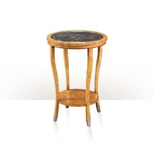 Theodore Alexander - A Karelian birch lamp table - Repouse Brass Top