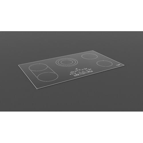 "36"" Radiant Cooktop With Brushed Aluminum Trim - Black Glass"