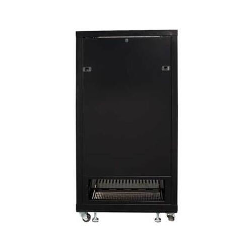"Product Image - Black 55"" Tall AV Rack 27U Component rack for home theater equipment"