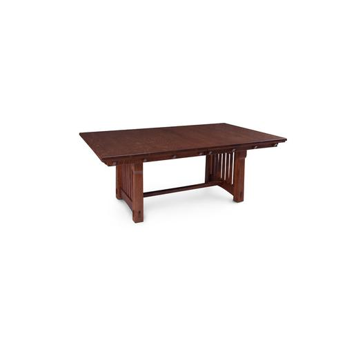 MaRyan Trestle Table, Solid Top