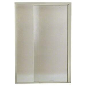 "Vista Pivot™ II Shower Door - Height 65-1/2"", Max. Opening 42"" - Nickel with Pebbled Glass Texture Product Image"