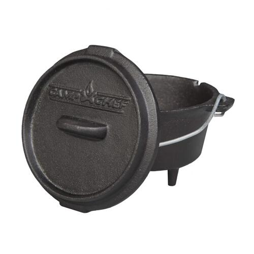 3/4 Qt Seasoned Cast Iron Mini Dutch Oven