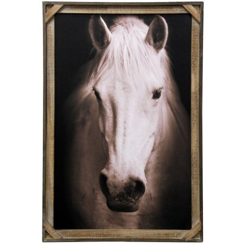 Style Craft - White Beauty  Textured Framed Print  36in X 24in