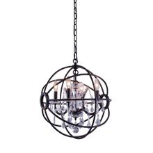 Geneva 4 light Dark Bronze Pendant Clear Royal Cut crystal
