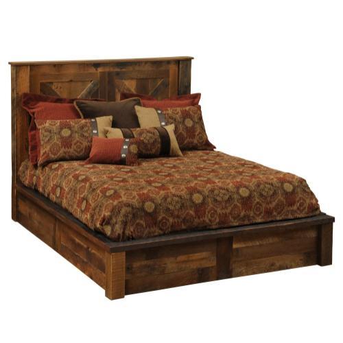 Barndoor Platform Bed - Queen