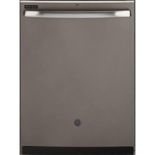 "GE 24"" Built-In Hidden Control Dishwasher with Stainless Steel Tall Tub Slate - GDT635HMMES"