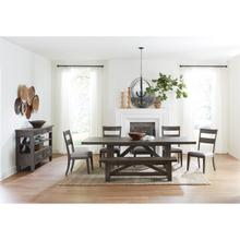 View Product - Bradford - Dining Bench - Rustic Coffee Finish