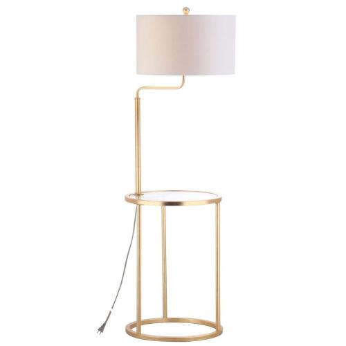Product Image - Crispin Floor Lamp Side Table - Gold Leaf