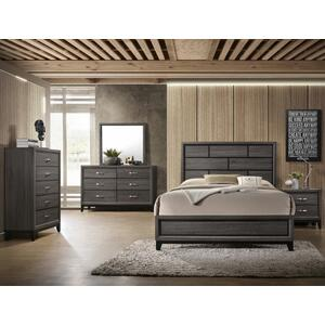 Akerson King Head/footboard Grey