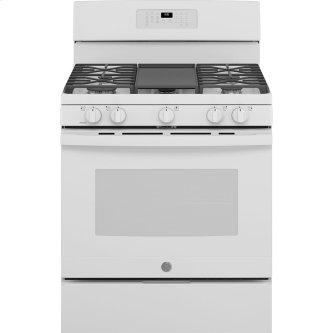 "GE 30"" Self-Clean Freestanding Gas Range White - JCGB660DPWW"