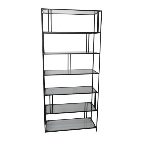 Berkley Metal and Glass Etagere