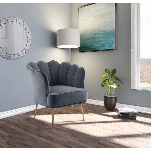 "Jester Velvet Accent Chair - 29"" W x 29"" D x 29.5"" H"