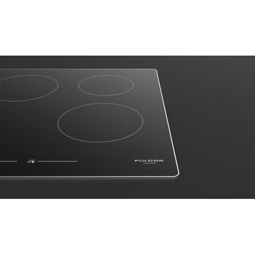 """Fulgor Milano - 30"""" Induction Cooktop With Brushed Aluminum Trim - Black Glass"""