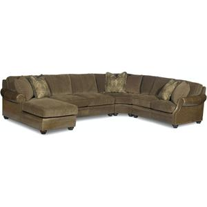 Bradington Young Warner RAF Stationary Loveseat 8-Way Tie 220-58